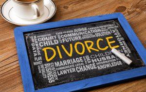 divorce on chalkboard
