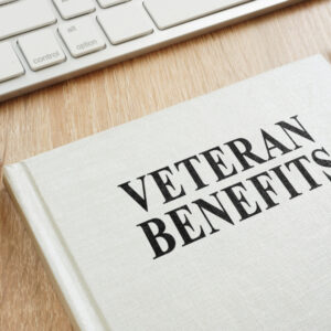 book about veteran benefits on desk